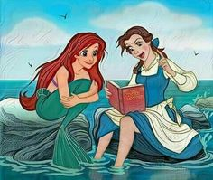 Ariel and Belle reading...