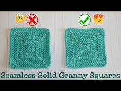 Blossom Crochet: Perfect SEAMLESS & reversible SOLID GRANNY SQUARES Use this step by step crochet tutorial to make amazing, seamless and reversible solid granny square Crochet Square Patterns, Crochet Borders, Crochet Squares, Crochet Granny, Crochet Designs, Crochet Tutorials, Crochet Ideas, Granny Square Blanket, Granny Squares