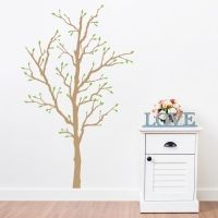 Tree with Spring Buds Wall Decal
