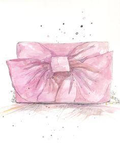 Title: Valentino Bow Bag    This is an Art Print!