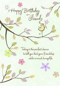 Thankful Friend Birthday Wishes Card Large