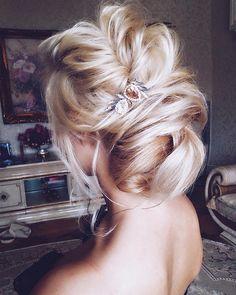 Beautiful wedding hair inspiration , low bun wedding hair idea | chignon wedding hairstyle #weddinghair #weddinghairideas #hairinspiration #hairstyle #hairideas #updo