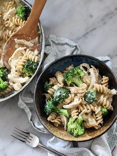 Cheesy Chicken and Broccoli Whole Wheat Pasta by foodiecrush #Pasta #Chicken #Broccoli