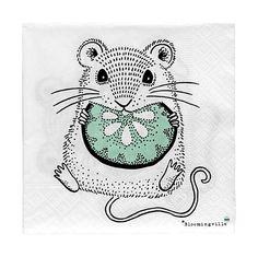 Papírové ubrousky pro děti s obrázkem myšky