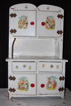 Antique/Vintage Child's/ Doll's Play Hutch  by KarenLovesAntiques, $125.00