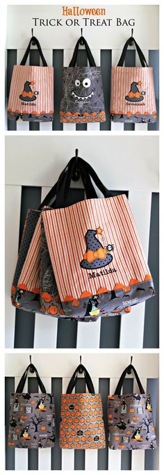 Halloween Trick or Treat Bag Pattern by Lindsay Wilkes from The Cottage Mama…