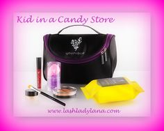 KID IN A CANDY STORE - This sweet assortment of all-new products has your basics covered, from a sun-kissed glow to perfectly tinted lips and eyes in the colors of your choice. 1 Stiff Upper Lip Lip Stain 1 Splurge Cream Eye Shadow 1 Beachfront Bronzer 1 Blending Buds 1 Cream Shadow Brush 1 Shine Eye Makeup Remover Cloths 1 Younique makeup bag