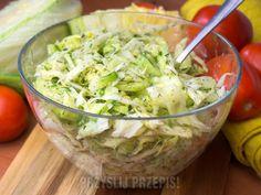 Surówka z sałatą lodową, ogórkami i koperkiem Guacamole, Salad Recipes, Potato Salad, Cabbage, Food And Drink, Yummy Food, Vegetables, Ethnic Recipes, Salad Ideas