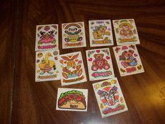 vintage stickers scratch n sniff lot illuminations mellos cherry fairy more  unused help me help someone with cancer. $25.00, via Etsy.