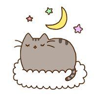 Pusheen the cat * ¡Nyan Cat (arriba)! Nyan Cat, Pusheen Gif, Pusheen Love, Kawaii 365, Chat Kawaii, Cat Cushion, Cushion Pillow, Cute Cookies, Cat Sleeping