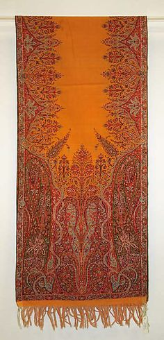 Shawl  Date:1800–1850Culture:BritishMedium:silk, cotton (?)