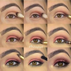 Step by step for yesterday's look using the @toofaced Sweet Peach Palette  I have another look with this palette that I will be posting tonight!!! 1• Blend Purée into cheese  2• Deepen outer crease with Summer Yum  3• Add a small about of Charmed I'm Sure to the very outer eye  4• Apply Candies Peach to lid  5• Smudge Bless Her Heart under eye  6• Line waterline with @toofaced Perfect Brown eyeliner  7• Highlight brow bone and inner eye with Nectar  8• Coat lashes with @toofaced Better…