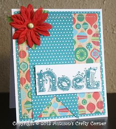 Noel Christmas Handmade Card by Autumn's Crafty Corner.