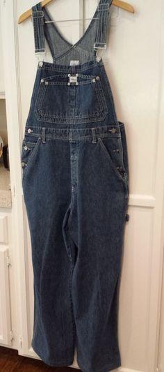 Calvin Klein Overalls Denim Bib Size Medium M Grunge Jumpsuit #CalvinKlein #Overalls #$42.00