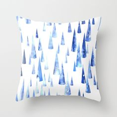 Blue Water Love #2 Throw Pillow by SchatziBrown #blue #water #pattern