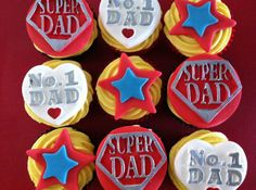 10 Father's Day cupcakes to celebrate with Fathers Day Art, Fathers Day Crafts, Happy Fathers Day, Birthday Cake For Father, Fathers Day Cupcakes, Cupcake Cookies, Cupcake Toppers, Foundant, Dad Day