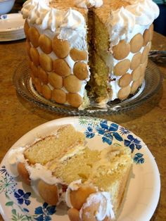 Banana Pudding Cake Recipe Yum! Perfect for this years thanksgiving!