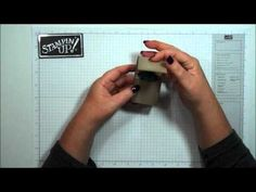 Hand Sanitizer Holder using products from Stampin'Up! - YouTube