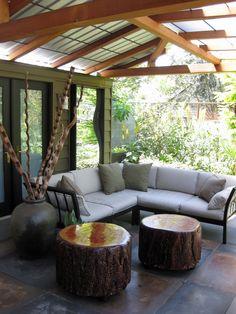 love the high gloss log coffee tables!