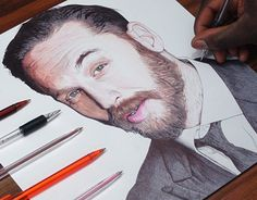 """Check out new work on my @Behance portfolio: """"Tom Hardy Ballpoint Pen Drawing"""" http://be.net/gallery/40493241/Tom-Hardy-Ballpoint-Pen-Drawing"""