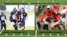 Abilene Christian Wildcats vs New Mexico Lobos Live Stream Teams: Wildcats vs Lobos Time: TBA Week-1 Date: Saturday, 2 September 2017 Location: University Stadium, Albuquerque, NM TV: ESPN NETWORK  Abilene Christian Wildcats vs New Mexico Lobos Live Strea https://www.fanprint.com/licenses/air-force-falcons?ref=5750