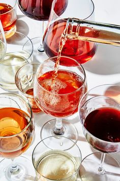 From a not-so-sweet German Riesling to pre-dinner vermouth spritzes, here's what to sip this fall. Wine Distributors, Dandelion Wine, Orange Wine, Wine Sale, Wine Subscription, Wine Glass Holder, Mini Vacation, Wine Tasting, Bon Appetit