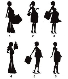 Mommy To Be Silhouettes 4 inch Die Cuts by FreshCutsbyLauriBeth, $2.00
