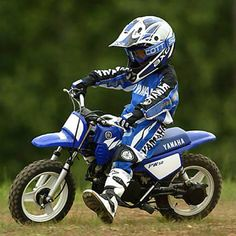 Some day my boy will race motocross and ride a yamaha!