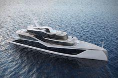 Прототип яхты Tankoa Bolide Разработанный знаменитым итальянским дизайнером Фабио Маццео, проект Tankoa Bolide обещает быть непохожим на любое другое судно на рынке.  Его 5400 квадратных футов стекла является результатом усилий, направленных на то, чтобы обеспечить вид на во