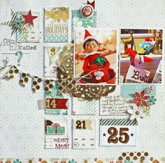 Crazy Little Elf  *Scraptastic- Page Maps January  by susan stringfellow @2peasinabucket