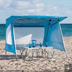 Aluminum Shade Shelter  http://www.frontgate.com/aluminum-shade-shelter/439086