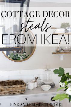 Today I'm sharing my own cottage decor steals from Ikea and how I've incorporated them into my home!