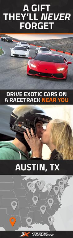 (Labor Day Special! Save 25% with code: DAYOFF) It's never been easier to give a gift to the guy who has everything. Driving a Ferrari, Lamborghini, Porsche or other exotic sports car on a racetrack is a unique gift idea that is guaranteed to leave a smile on his face and a life-long memory. Xtreme Xperience brings the thrill of a lifetime to you at Driveway Austin in Austin, TX on Sept. 18, 2016. Reserve your SupercarTrack Xperience today for as low as $219. Space is limited!