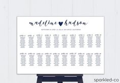Wedding Seating Chart Template Seating Template diy seating | So ...