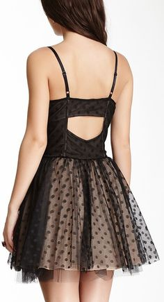 Betsey Johnson Mesh Polka Dot Dress