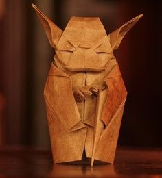 Origami Yoda! Fold or fold not. There is no tape.