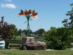 Giant Prairie Lily at Swift Current, Saskatchewan, Canada. Beautiful Vacation Spots, Western Canada, Roadside Attractions, Unusual Things, Travel With Kids, Swift, Worlds Largest, Natural Beauty, Places To Go