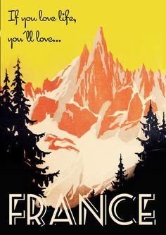 Travel Poster - France.