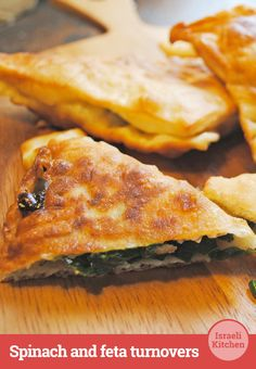 Crisp dough triangles with a piquant spinach filling inside. # ...