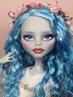 Layda OOAK Monster High Ghoulia Yelps Custom Repaint by Ellen Head Wreath | eBay
