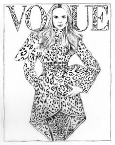 Color Your Favorite Vogue Paris Covers Printable Adult Coloring PagesColor SheetsFashion