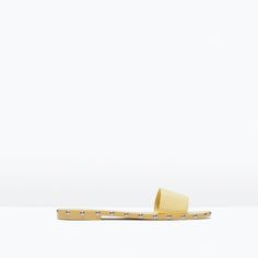 ZARA - SHOES & BAGS - STUDDED SLIP-ON FLAT SANDALS