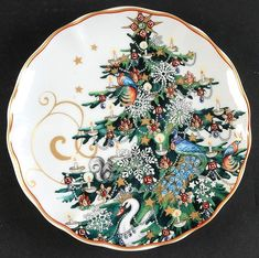 New Williams Sonoma Twas The Night Before Christmas Salad Plates Set 2 Tree Christmas Salad Plates, Christmas China, Christmas Dishes, Winter Christmas, Christmas Table Settings, Christmas Tablescapes, Christmas Tree Decorations, Christmas Dinnerware Sets, Twas The Night