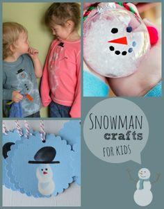 Seven Snowman Crafts For Kids!