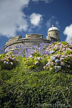 A scenic view of  St Mawes Castle in Cornwall.