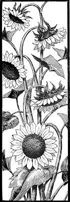 Request Day - Sunflowers, Seahorse, Art Nouveau Frame, Big Ben - The Graphics Fairy