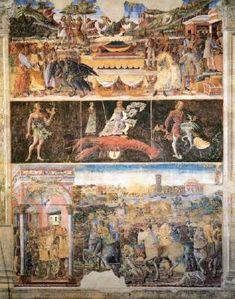 Cosmè Tura : Allegory of June: Triumph of Mercy (Palazzo Schifanoia - Ferrara (Italy - Ferrara)) コズメ・トゥーラ Palazzo, Fresco, Medieval Paintings, European Paintings, Tempera, Astrological Symbols, Roman Gods, Web Gallery, Western World