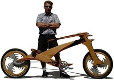 chopper style wooden bike from Warren Von Botbyl, he's called this one the Instigator