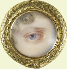 Eye of Princess Charlotte of Wales - 1817 Victorian Jewelry, Antique Jewelry, Vintage Jewelry, Victorian Era, Eye Jewelry, Royal Jewelry, Gold Jewelry, Lovers Eyes, Miniature Portraits