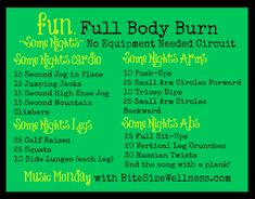 move it with fun full body burn from https://bitesizewellness.com #fitfluential More Fun Full, Body Burning, Full Body, Body Workout, Exercise Workout, Night Workout, Minis Workout, Body Blast, Quicki Workout Quickie workout! Fun Targeted Mini Workouts some nights workout Some Nights Full Body Blast by fun.
